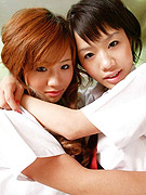 Naked Japanese school girls are twin sisters