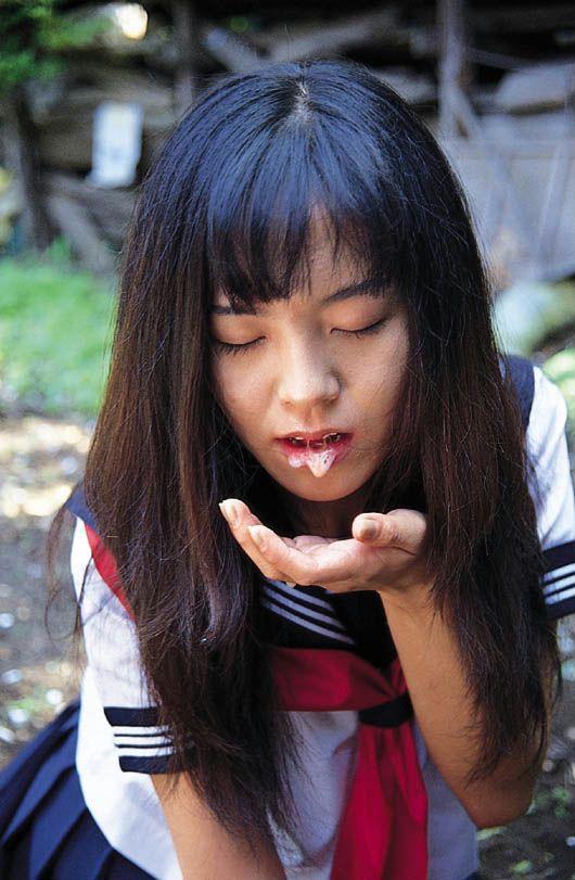 WOMAN japanese bukkake semen delicia